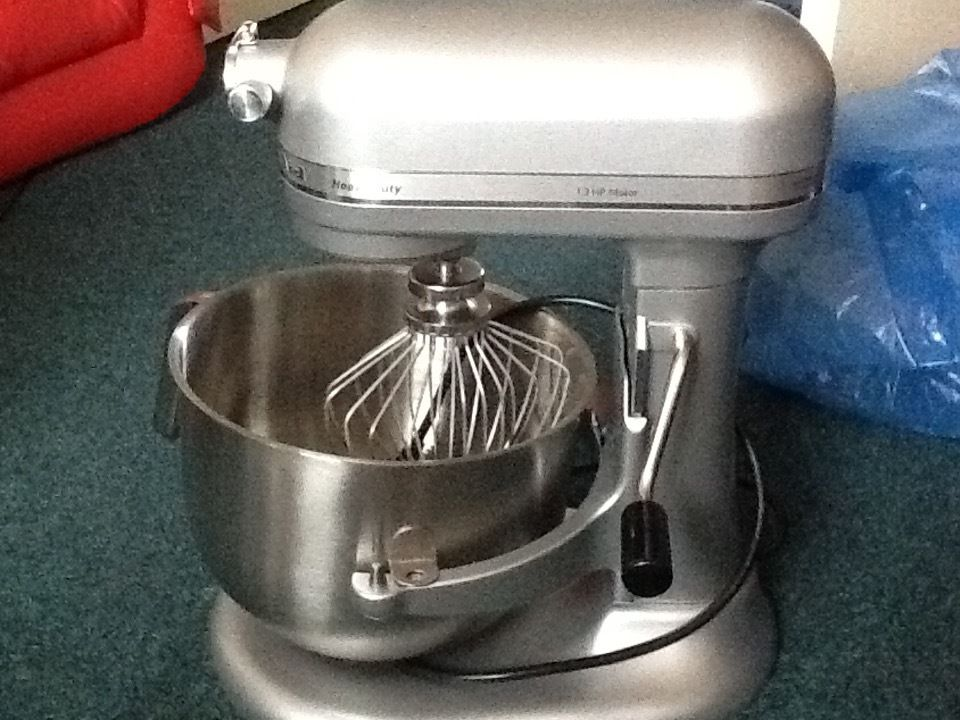NEW Kitchen Aid stainless steel dough mixer