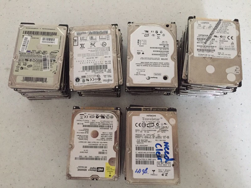 Joblot of 43 IDE&SATA Laptop hard drives