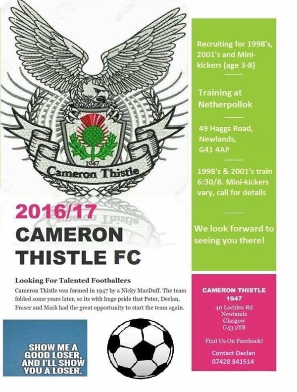 Cameron Thistle Mini Kickers