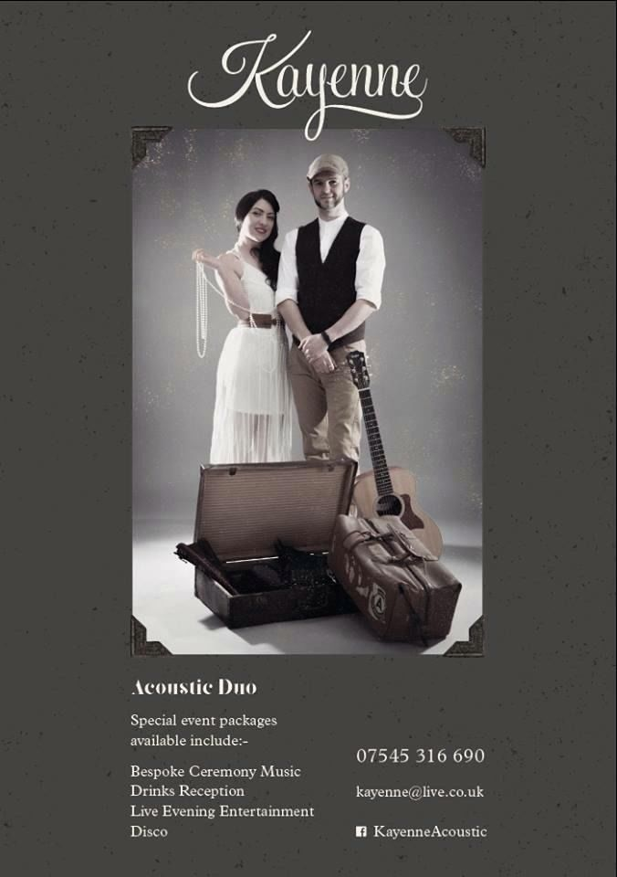 acoustic duo available for weddings & entertainmment (wedding band/music)
