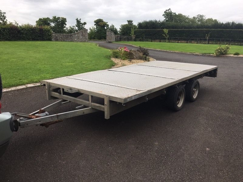 Ifor William's flat bed trailer 14ft x 6ft6 (Hudson, Bateson)