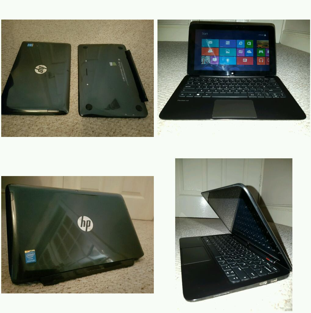Hp pavilion laptop tablet black with beats sounds and laptop rest comes with original box