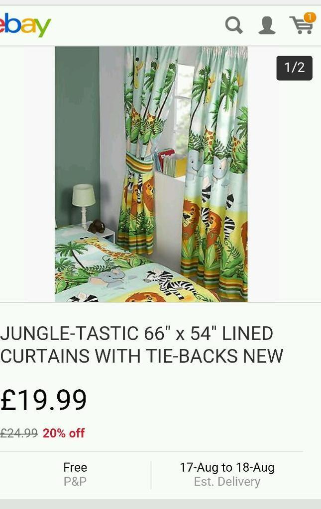 Jungle curtains BRAND NEW IN DELIVERY PACKAGING