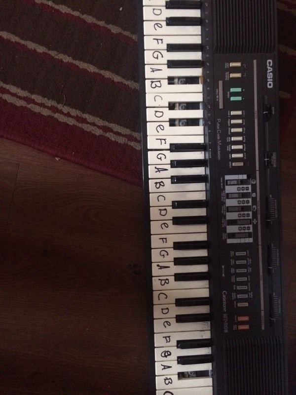 A piano/keyboard