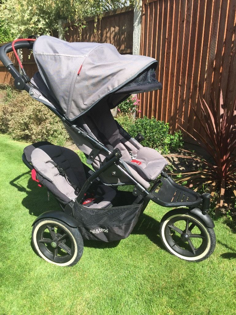 Phil&Teds Navigator 2 double buggy with auto stop