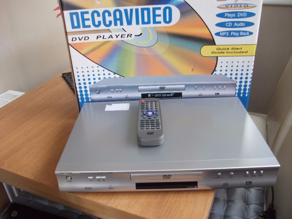 DECCAVIDEO DVD /MP3 PLAYER BOXED WITH REMOTE AND INSTRUCTION MANUALS
