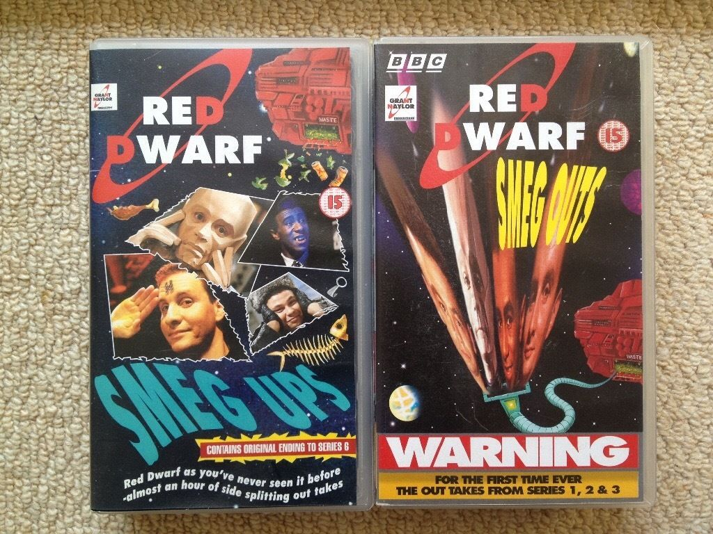 Collection of Red Dwarf Videos and books
