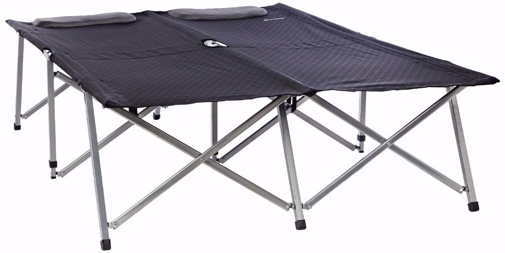 Outwell Posadas Foldaway Double Camp Bed - Black/Silver