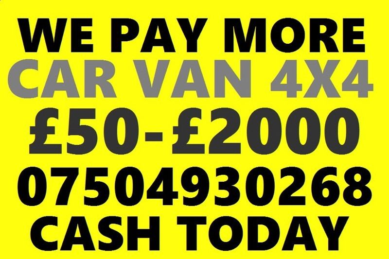 07504 930268 wanted car van motorcycle sell my for cash no mot buy your scrap best b