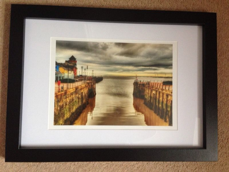 Framed photographic print taken from Portishead lockgates