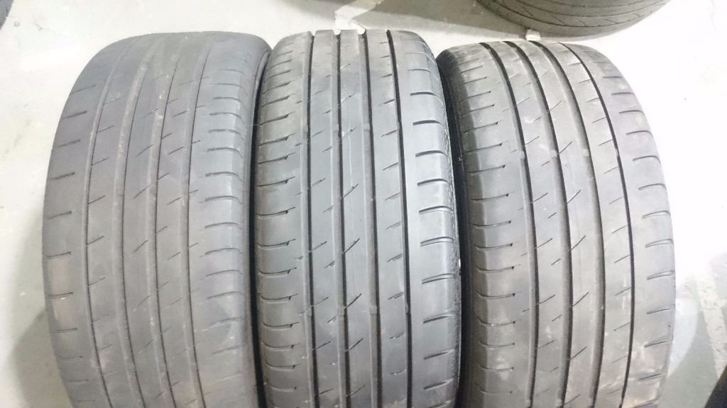 Continental 205/45/17 tyres x 3