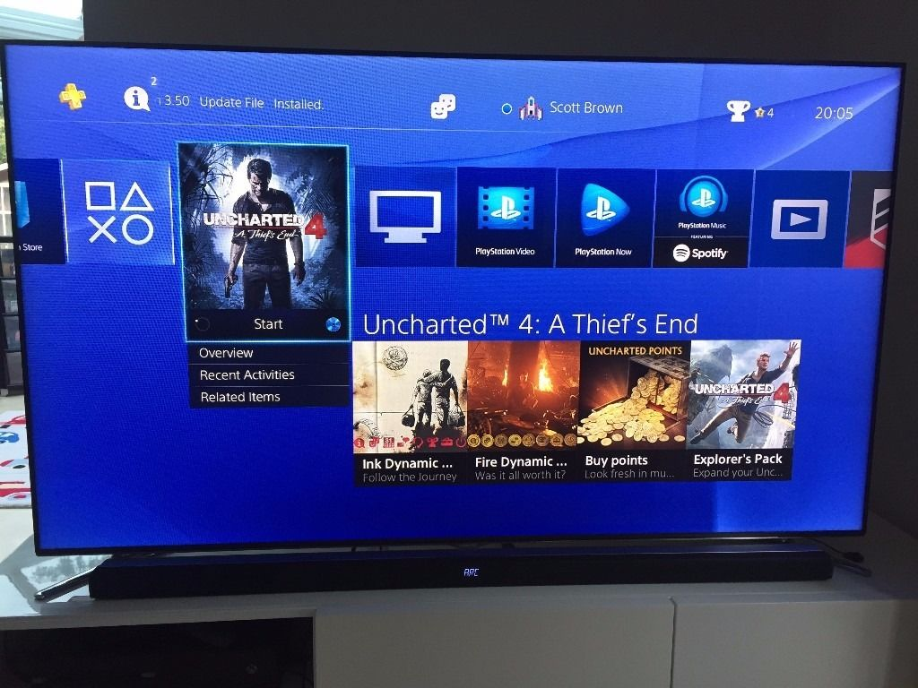 Playstation 4 500Gb Console + (Uncharted 4 , Driveclub)