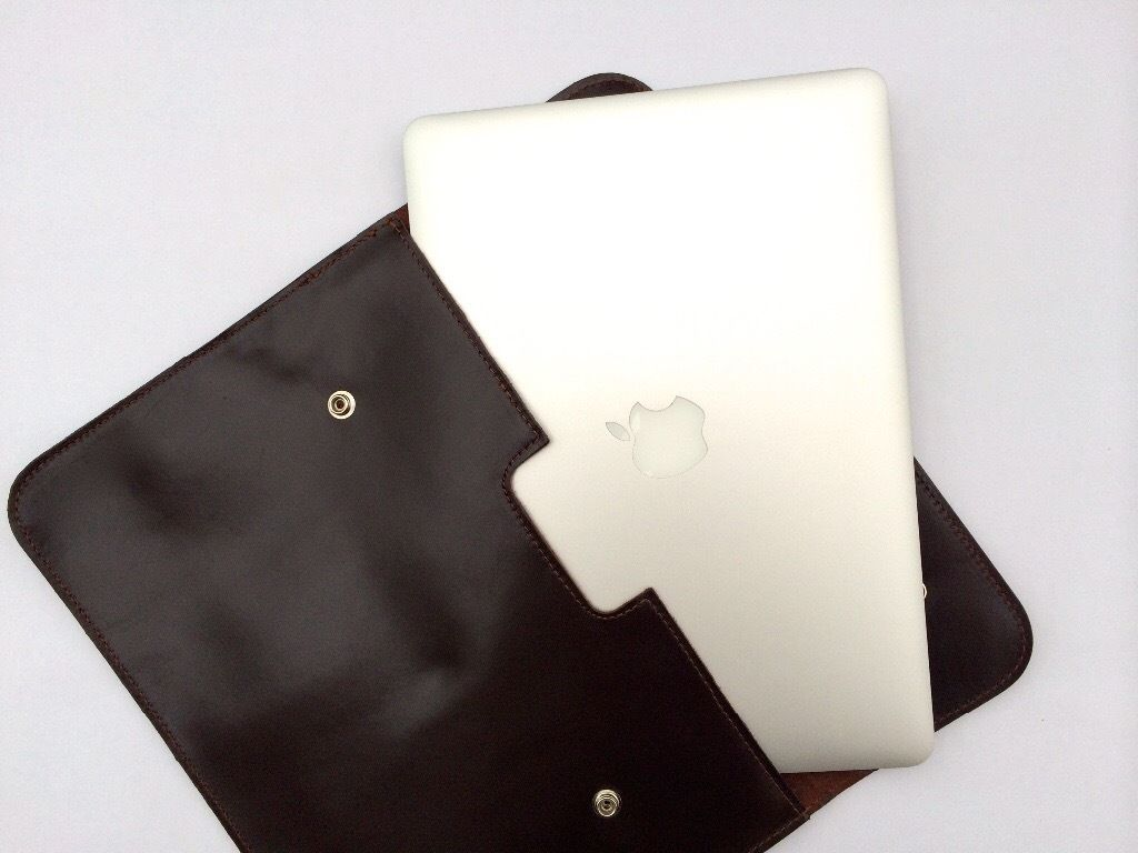90 Real Leather Apple MacBook Laptop Sleeve Cases 13""