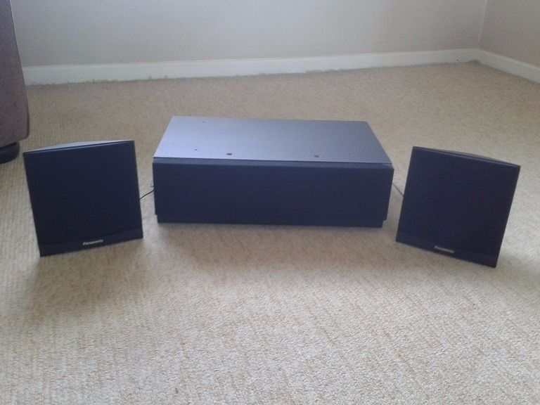 Panasonic EAS8E410-A Subwoofer and 2 Satellite Speakers - 2.1 Channel - 15W