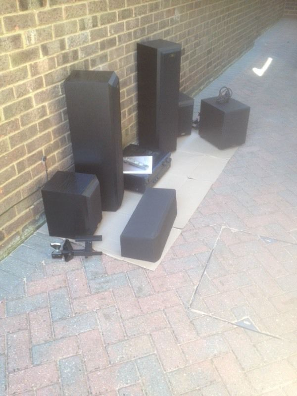 Surround sound speaker system - Paradigm and Eltax + Yamaha amplifier