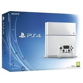 White 500GB PlayStation 4, 4 games, one controller