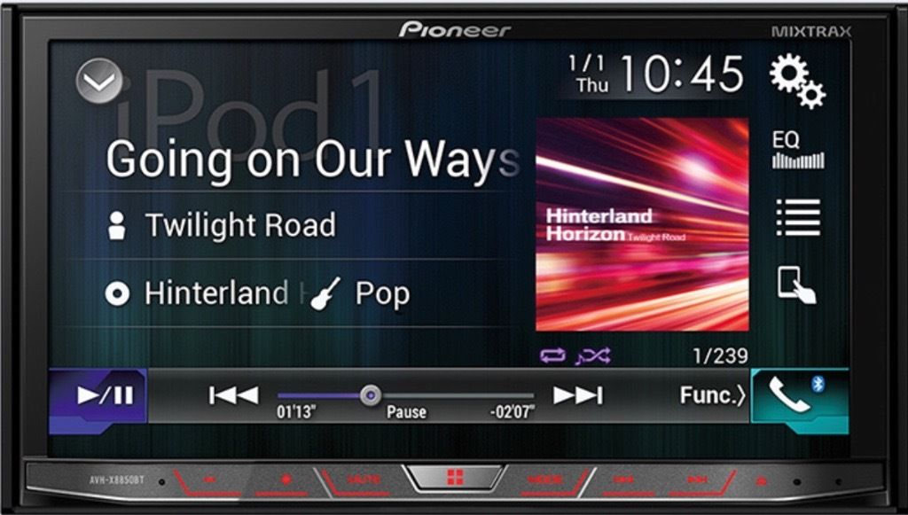 PIONEER AVH-X8700BT APPLE CARPAL/ANDROID AUTO STEREO TOUCHSCREEN