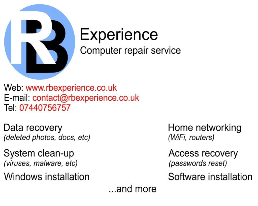 PC/Laptop assistance/repair, no fix no fee, no hidden costs