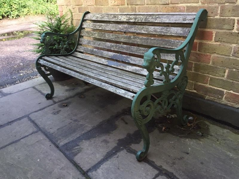 Traditional decorative garden bench
