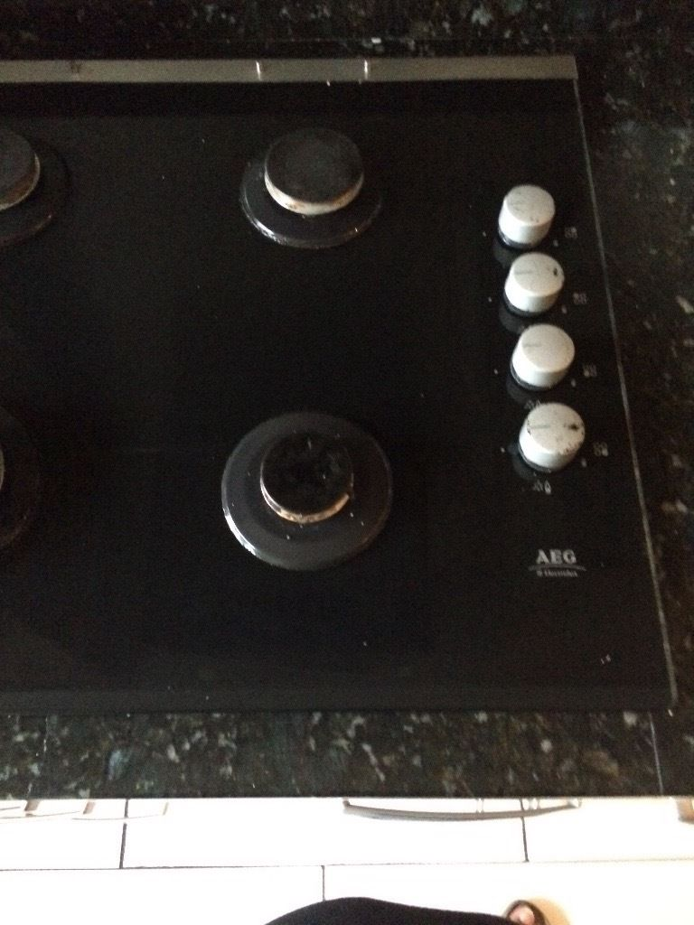 AEG integrated 4 ring gas hob