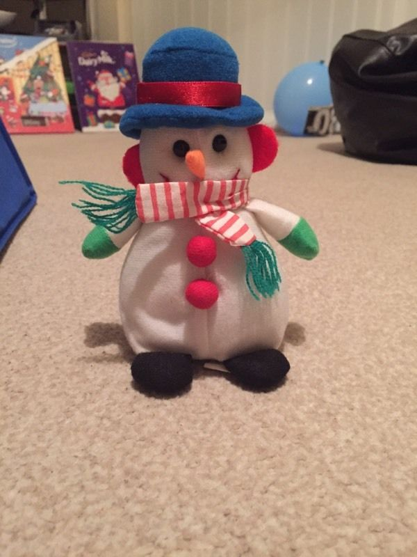 Musical snowman Christmas decoration