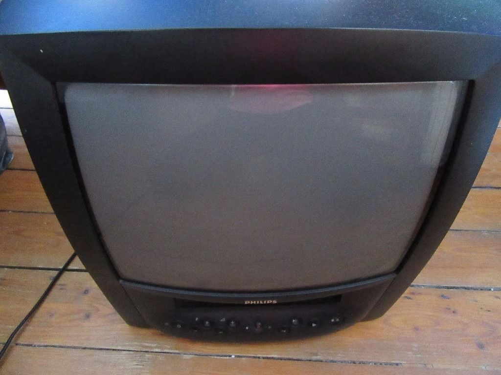 A Black Philips TV with Tape Recorder together with Frasier Box Sets, Seasons 1, 2 & 3.