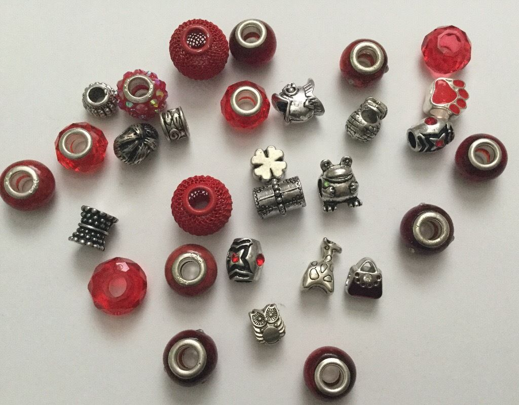 Mixed bag of charm beads