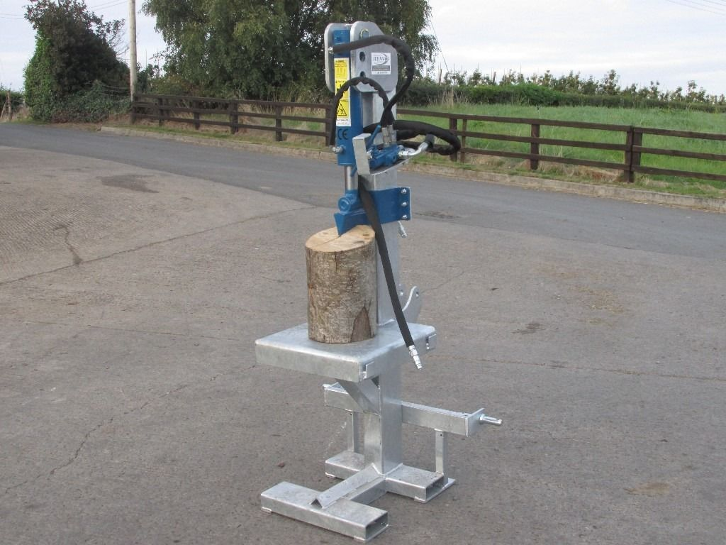 Tractor mounted Log splitter, hydraulic, pto or engine powered, log holder