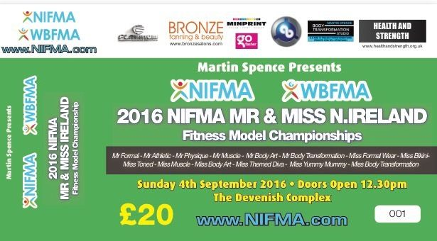 2016 NIFMA Mr & Miss Northern Ireland Fitness Model Championships