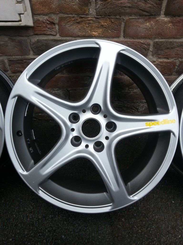 "Speedline replica 18""alloys, Italian-made, Japanese fitment, off MR2 MK2 with FREE TYRES"