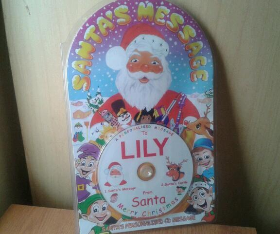 New-Personalised santa CD message-lily