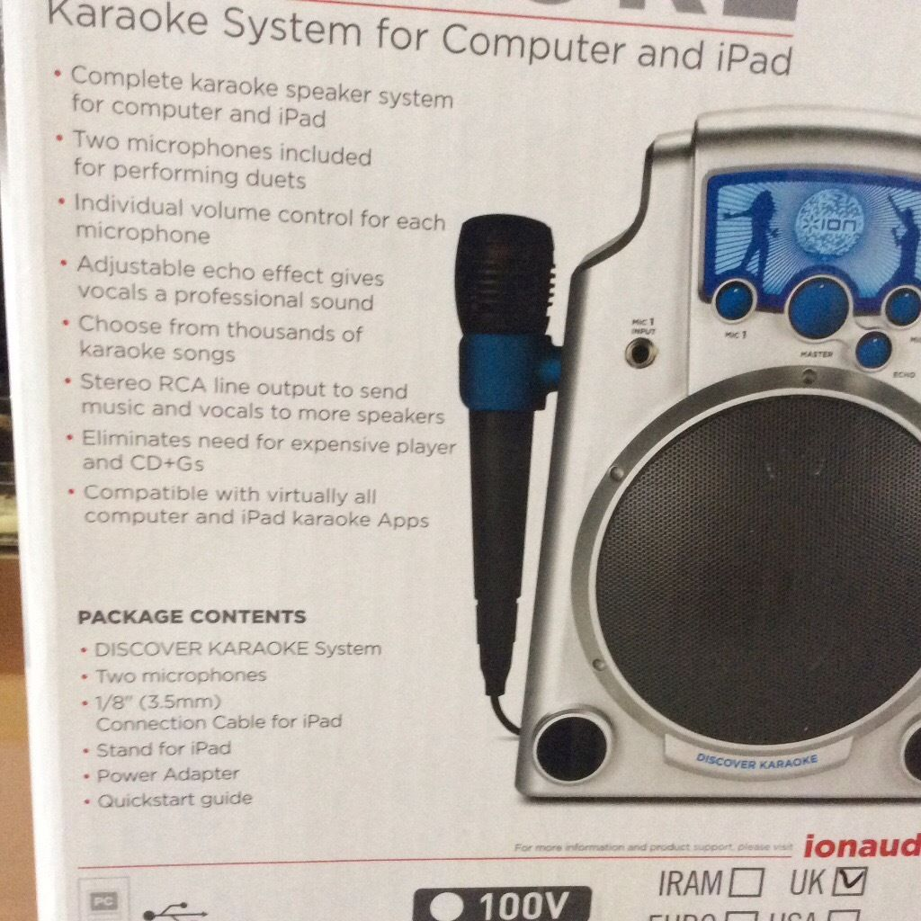 Brand new ion karaoke machine