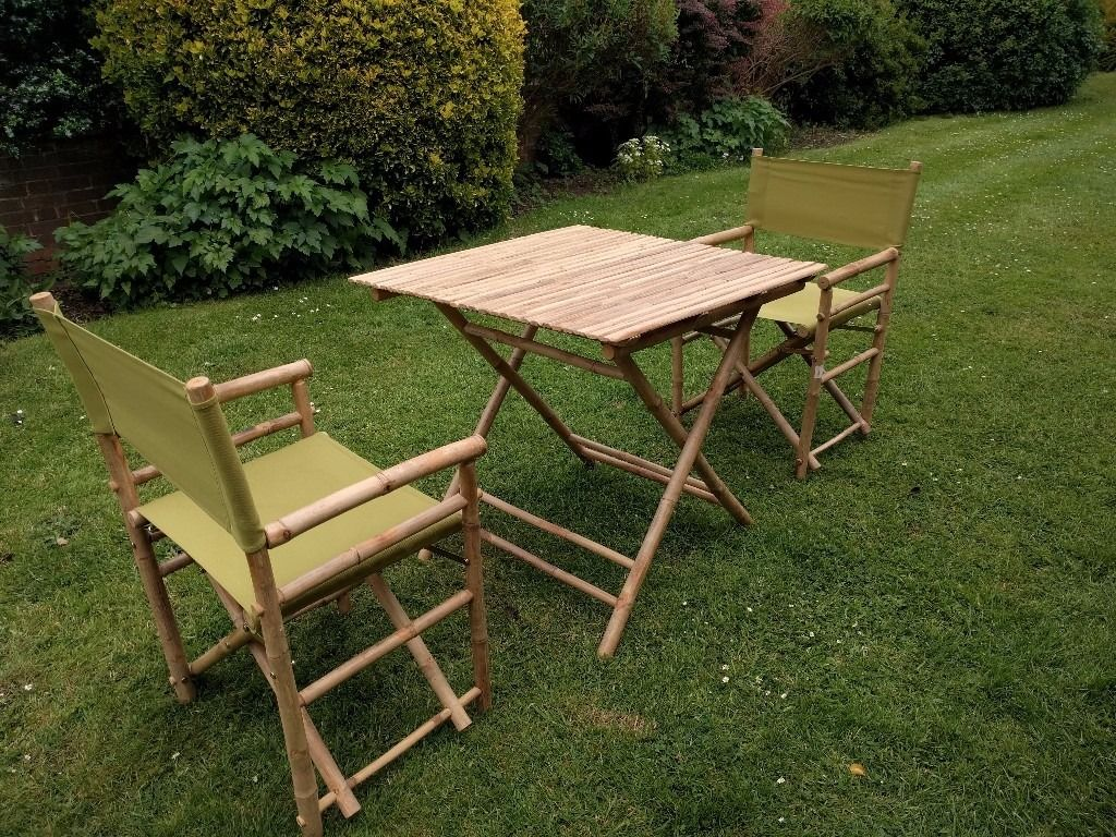 Garden Furniture set - B2 Bamboo chairs and a folding table