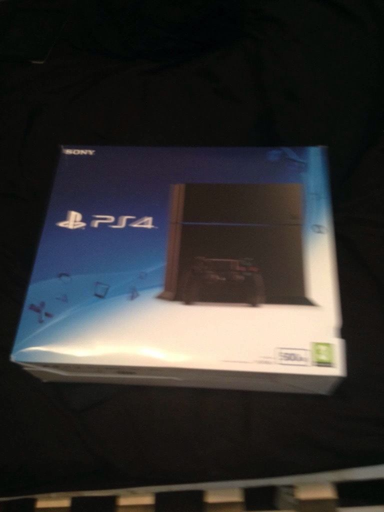 Ps4 in box with wrapping and FIFA 16