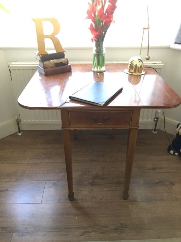 EDWARDIAN DESK SIDE TABLE TABLE FREE DELIVERY