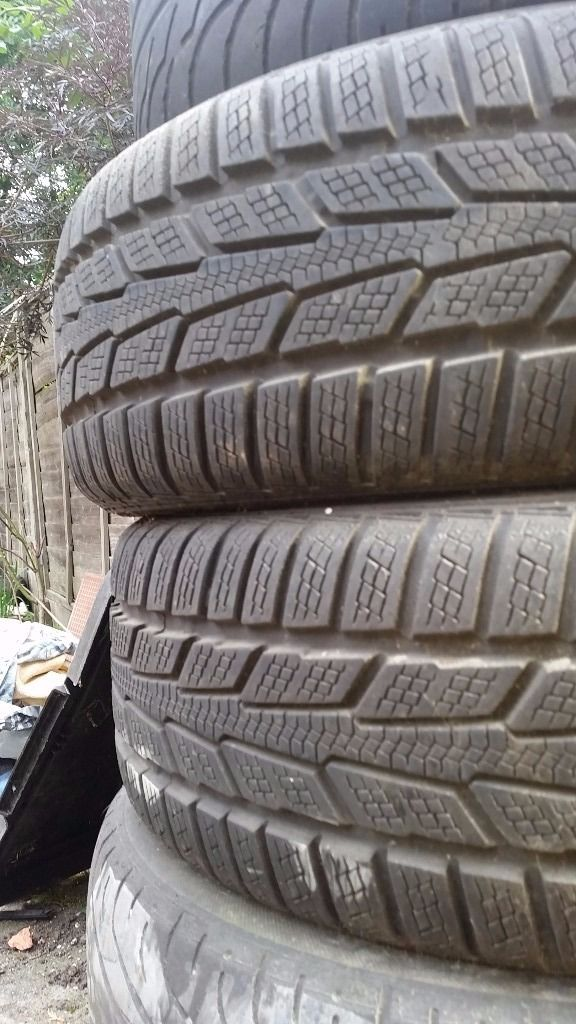 """Vauxhall vectra B C 1999-2002 16"""" alloys with winter tyres"""