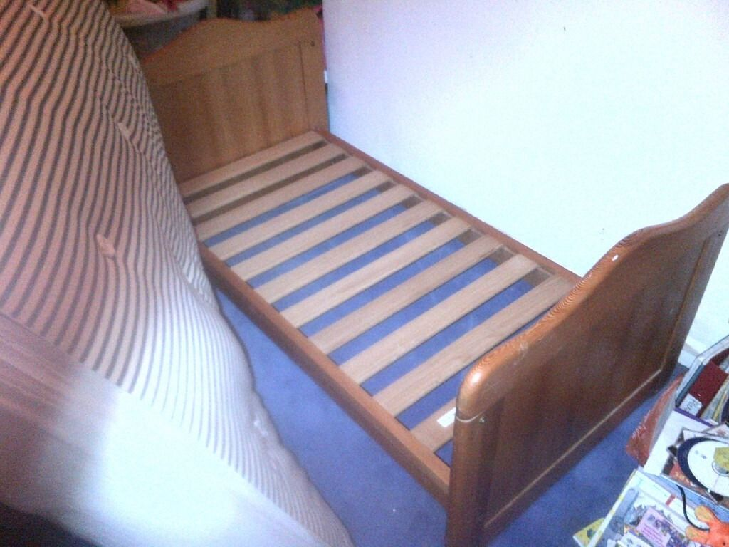 Cot Bed Solid Wood Pine
