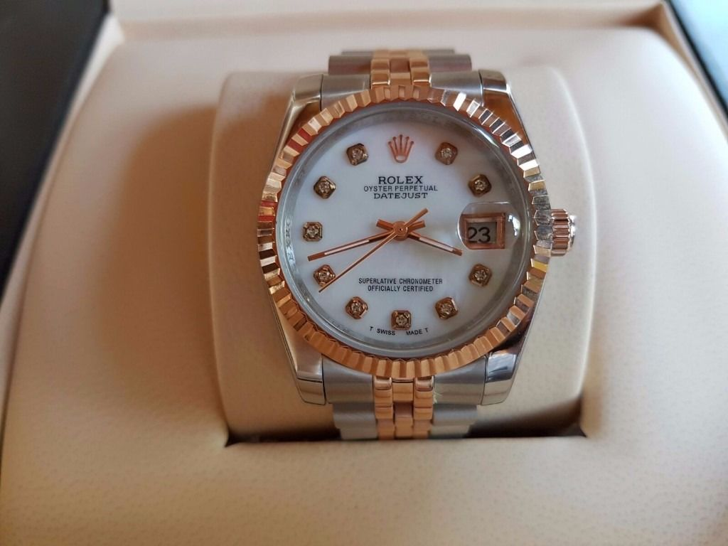 New Swiss ETA Rolex Date just two tone for sale!