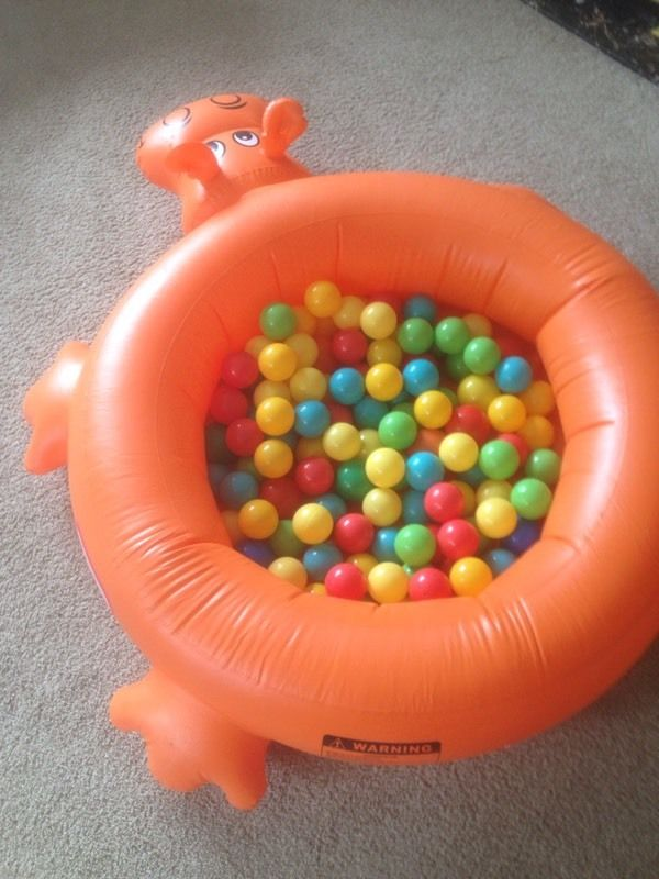 Multi-use Hippo Ball Pit