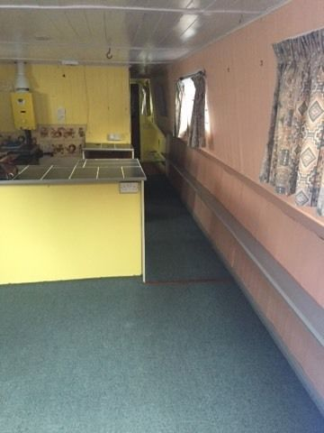 LIVEABOARD HOUSEBOAT WIDE BEAM FOR SALE OR SWAP FOR NARROW BOAT