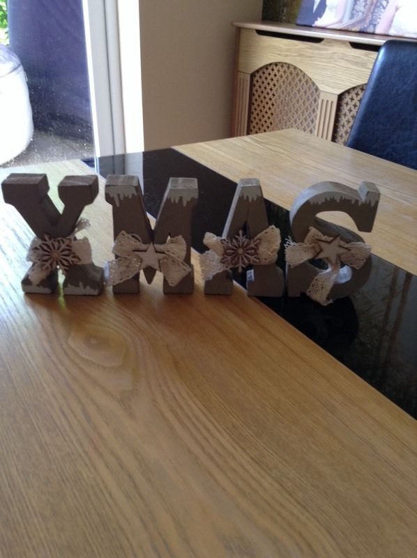 Wooden Christmas Letters