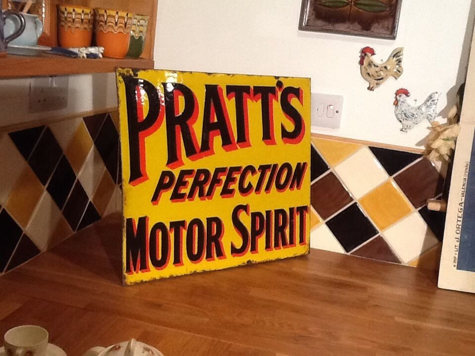 Wanted old sign advertising shop car garage metal motor enamel