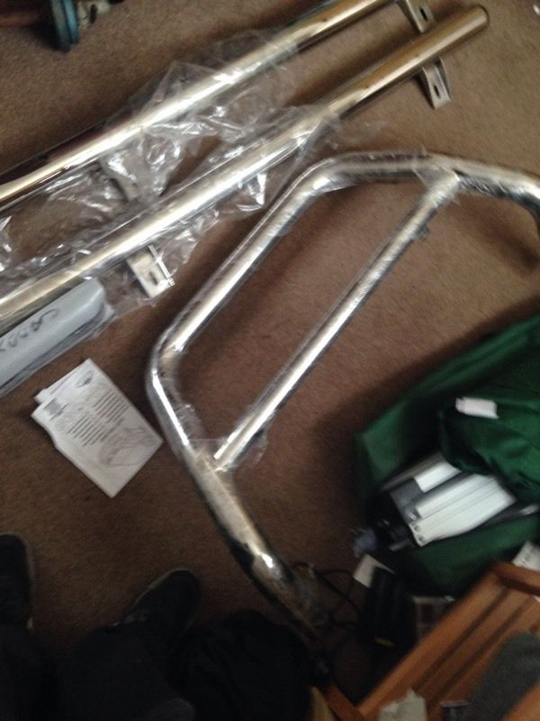Vw caddy side bars and front a bar