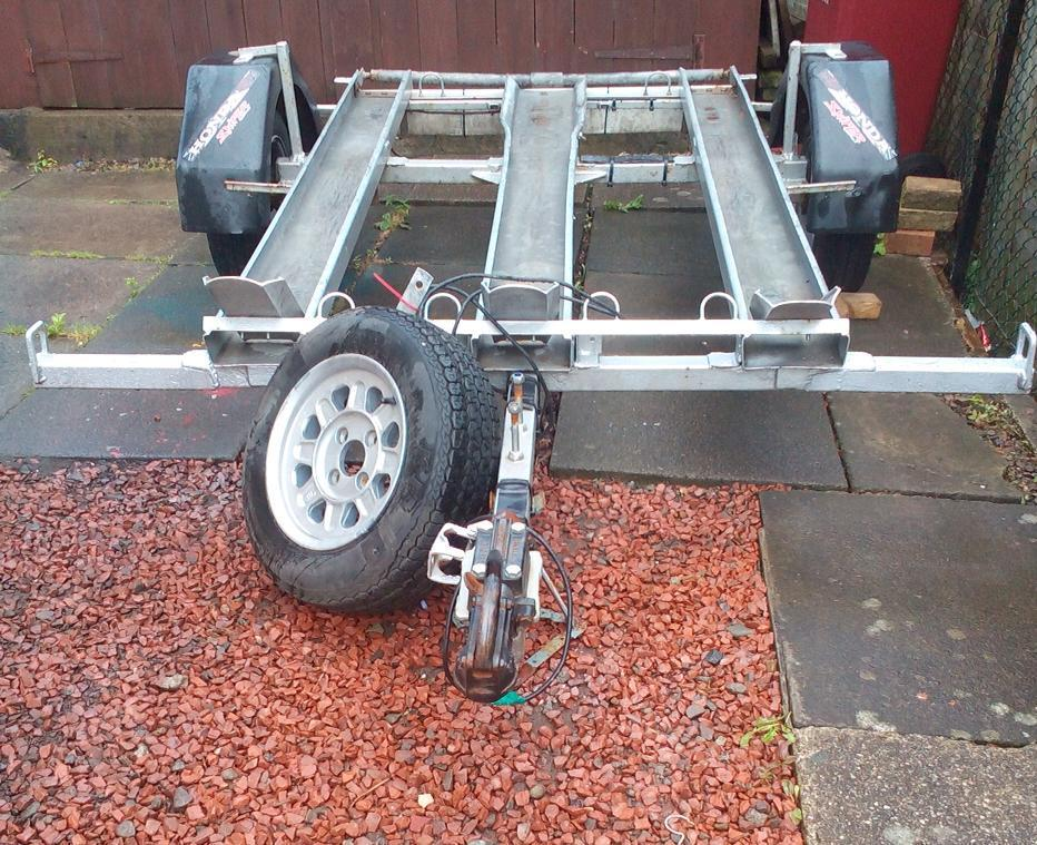 Trailer factory built takes 3 motorbikes or quad