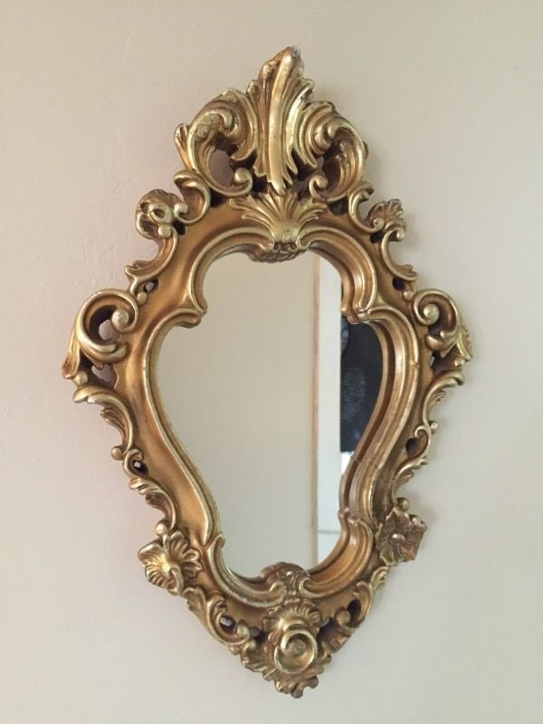 French Gilt Shaped Mirror