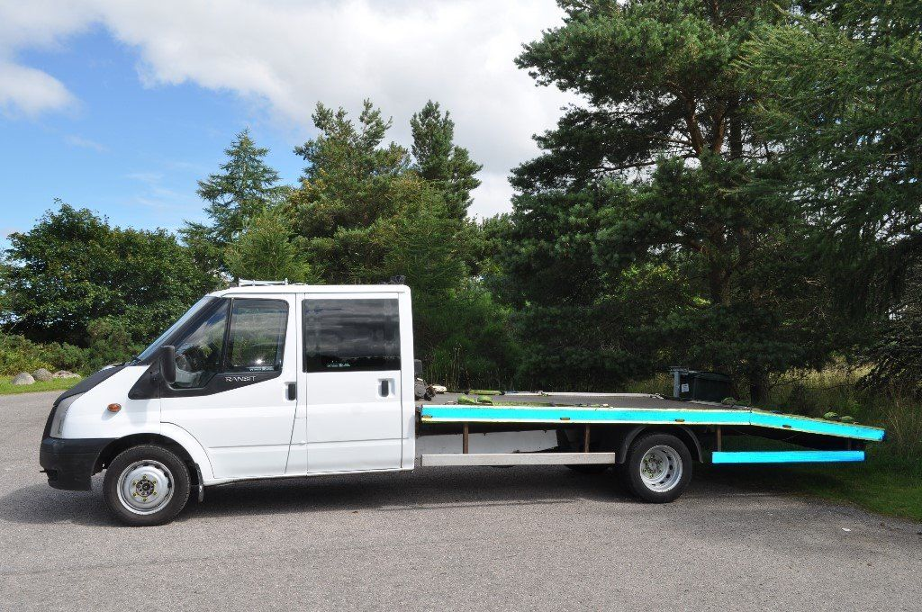 2007 Mk7 FORD TRANSIT DOUBLE CREW CAB VEHICLE TRANSPORTER / RECOVERY