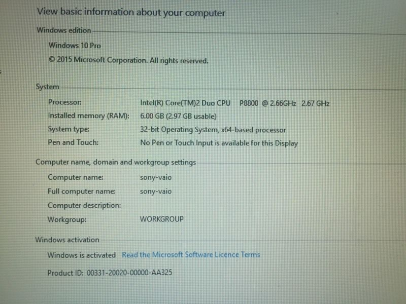 "Sony vaio vgn-sr5 13"" Laptop"