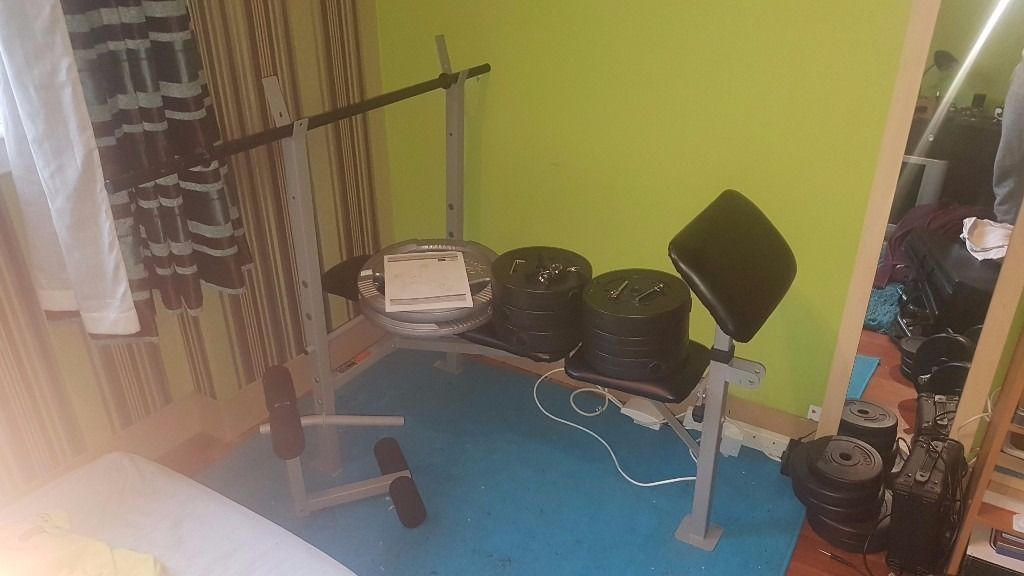 Weight Bench with 60 kg weight plates