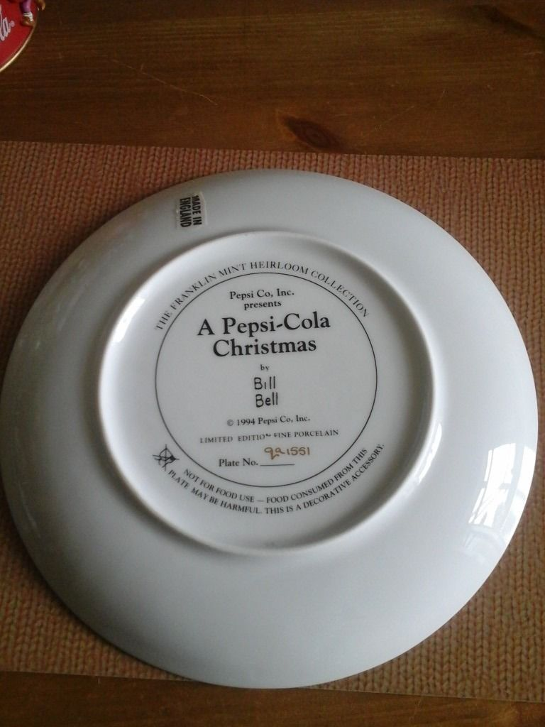 Christmas plate and ornament