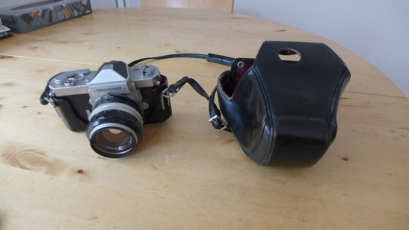 Nikon Nikkormat 35 mm film camera with case